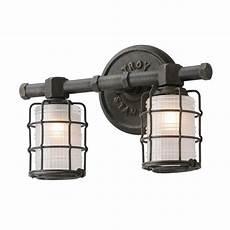 troy lighting mercantile 2 light vintage bronze vanity light b3842 the home depot