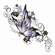 Einmal Klebetattoo Tempor 228 Res Schmetterling