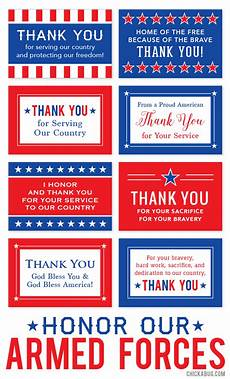 veterans day thank you card template free printable quot honor our armed forces quot cards chickabug