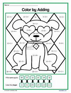 color by number worksheets 1st grade 16057 s day color by number grade color by addition and subtraction