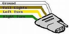 Trailer Wiring Diagram Light Brakes Hitch 4 Pin Way