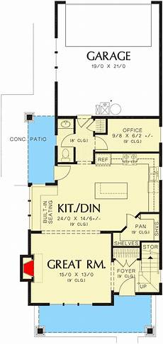 narrow lot house plans with rear garage plan 69518am narrow home plan with rear garage narrow