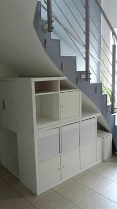 Regal Kallax Unter Der Treppe Als Abdeckung Haben Wir
