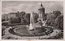 mannheim friedrichsplatz mit wasserturm 1953 plz 6800