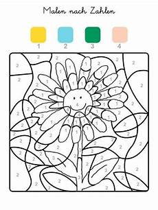 Ausmalbilder Zahlen Farben Malen Nach Zahlen Sonnenblume Ausmalen Zum Ausmalen