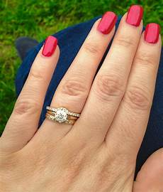 where to put engagement ring after wedding stacking rings can i wear a thin diamond eternity ring