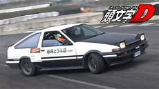 toyota 86 initial d initial d toyota ae86 trueno drifting on track 4age