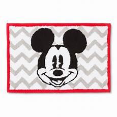 disney mickey mouse chevron bath rug gray white 21x30 quot kid s bathroom