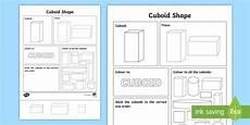 cuboid shape worksheet cuboid shape worksheet cuboid shape worksheet 3d