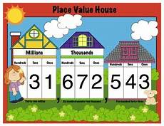House Charts Place Value House Math Mini Anchor Chart Handout