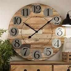 80cm timber unique rustic wall clock