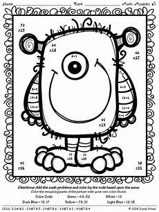 two digit addition math coloring worksheet math monsters addition subtraction with regrouping
