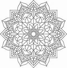 Mandala Malvorlagen Novel Simple Floral Mandala Mandalas Coloring Pages