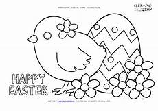 Ausmalbilder Ostern A4 Easter Coloring Page 11 Happy Easter With Egg Flowers