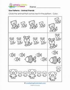 animal pattern worksheets 14350 size patterns animal friends a wellspring