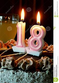 candele per compleanno particolari 18th birthday stock image image of burning eighteen