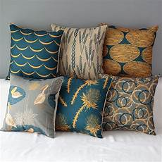 Decorative Cushions For Sofa by 18 Quot Square Colourful Cotton Linen Cushion Sofa