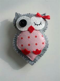stoff eule stoff eule f 252 r ein mobile soft felt owl wink heart cute
