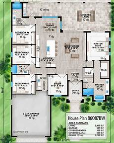 lanai house plans plan 86087bw contemporary southern house plan with large