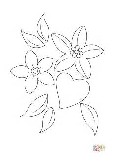 and flowers coloring page free printable coloring