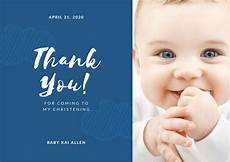 thank you card template baby birthday navy blue sailor christening thank you card templates by