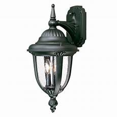 shop acclaim lighting monterey 20 5 in h matte black outdoor wall light at lowes com