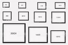 Photo And Picture Frame Size Stock Illustration