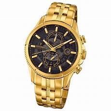 Festina Herren Uhr Chronograph F20269 3 Edelstahl Gold