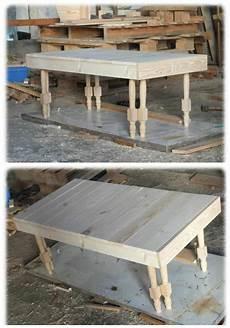 Table Basse En Bois De Palette Pieds De Chaises