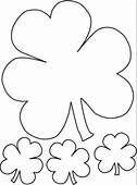 Printable St Patricks Day Leprechaun Clover