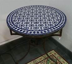 mosaik tisch marokkanischer mosaiktisch rund 70 cm tischplatte handarbeit