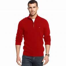 lyst hilfiger adam quarter zip sweater in for