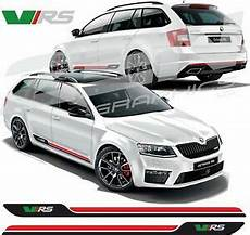 skoda octavia vrs side stripes decals stickers graphic any