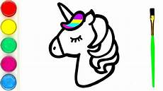 how to draw and paint lovely unicorn for beginners