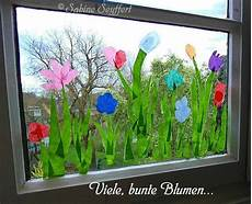Basteln Mit Kindern Sommer Fenster - fr 252 hlingswiese f 252 r die fenster im gruppenraum basteln