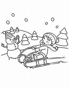 ausmalbilder weihnachten junge beim rodeln