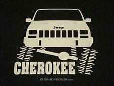Jeep Cherokee Flexing XJ Sport  Rock Crawler Sticker