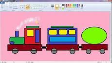 Menggambar Kereta Api Sepuur Tutorial Paint