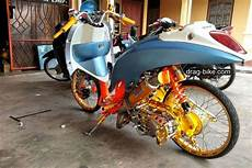 Modifikasi Scoopy 2018 Jari Jari by Modifikasi Motor Scoopy Pelek 17 Jari Jari Drag Bike