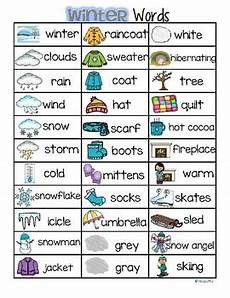 winter words worksheets 20121 winter vocabulary list 32 words and pictures free by kidsparkz tpt