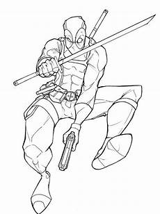 Bilder Zum Ausmalen Superhelden Ausmalbilder Deadpool 2 Superhelden Malvorlagen