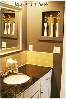 paint color for bathroom with yellow tile bathroom makeover yellow gray color scheme using the
