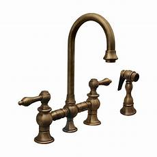 antique kitchen faucets shop whitehaus collection vintage iii antique copper 2 handle bar faucet with side spray at