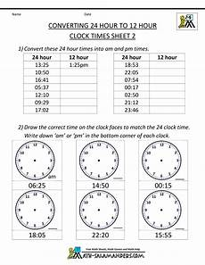 24 hour time worksheets grade 5 3321 24 hour time conversion 24 to 12 hour clock 2 the city school cantt junior rawalpindi