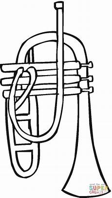 trumpet coloring page free printable coloring pages