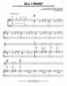 all i want kodaline piano sheet music all i want sheet music by kodaline piano vocal guitar right hand melody 155395