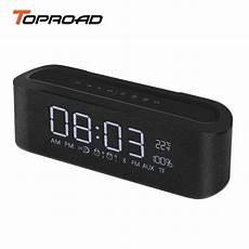 Soundbar Wireless Display Dual Clock Bluetooth by Toproad Portable Bluetooth Speaker Wireless Stereo