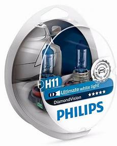 h11 philips vision 5000k 12362dvs2 ultimate white