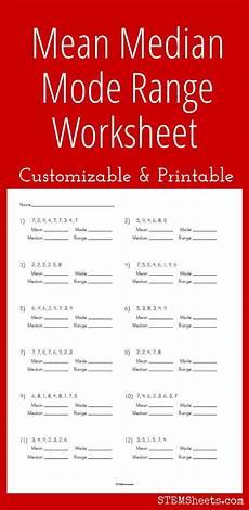 customizable and printable mean median mode range worksheet kids math worksheets homeschool