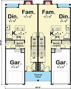 narrow lot duplex house plans plan 62658dj 3 bed craftsman narrow lot duplex house plan